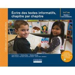 Écrire des textes informatifs, chapitre par chapitre (6-7 ans)