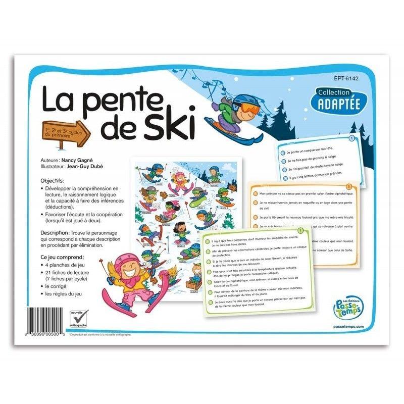 La pente de ski