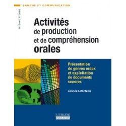 Activités de production et de compréhension orales