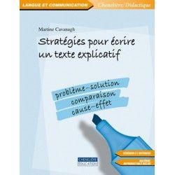 Stratégies pour écrire un texte explicatif