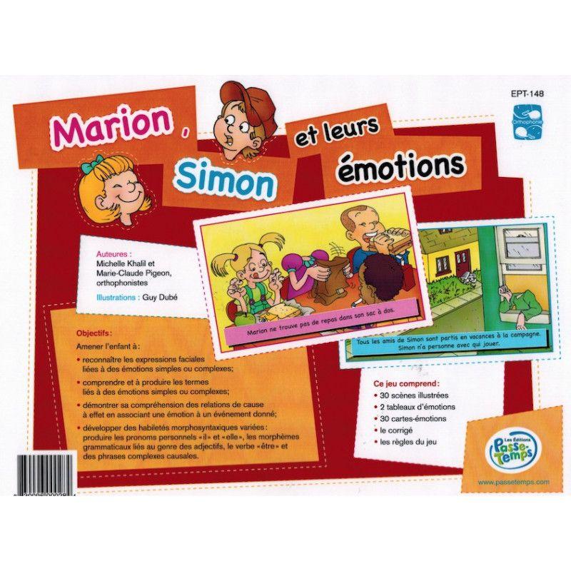 Marion Simon et leurs émotions
