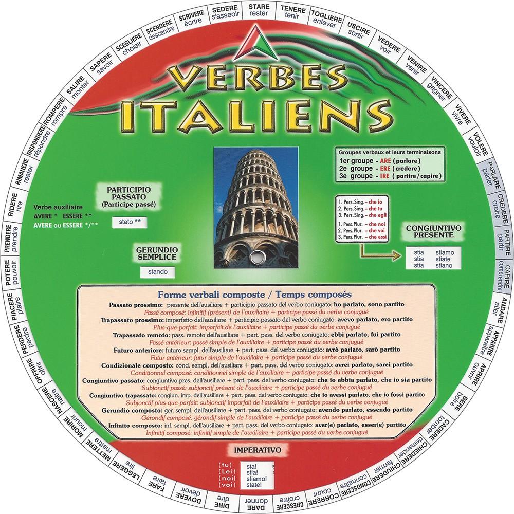 Roue Des Verbes Italiens Pirouette Editions