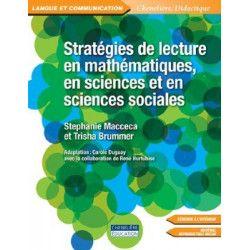 Stratégies de lecture en mathématiques, en sciences et en sciences sociales